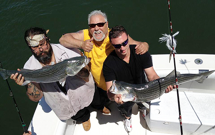 Very affordable in-shore striped bass trips